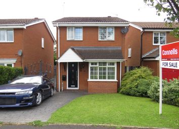Thumbnail 3 bed detached house for sale in St Patrick Close, Hednesford, Cannock