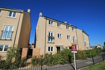 Thumbnail 4 bed town house to rent in Serotine Crescent, Paxcroft Mead, Trowbridge, Wiltshire