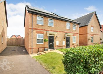 Thumbnail 2 bed semi-detached house for sale in Brickle Wood Avenue, Poringland, Norwich