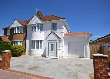 Thumbnail 4 bed semi-detached house for sale in Beaumont Road, Broadwater, Worthing, West Sussex