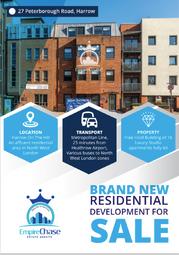Thumbnail Block of flats for sale in Peterborough Road, Harrow