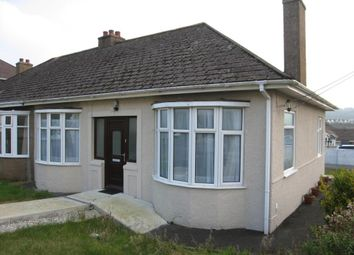 Thumbnail 2 bedroom bungalow to rent in Quarry Park Road, Plymstock, Plymouth, Devon