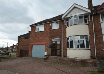 Thumbnail 5 bed semi-detached house for sale in Somerset Avenue, Leicester