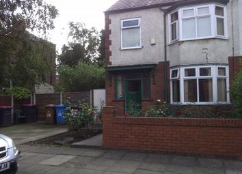 Thumbnail 3 bed semi-detached house to rent in Huntington Avenue, Withington, Manchester
