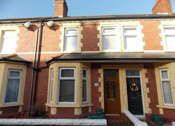 Thumbnail 3 bedroom terraced house to rent in Bendrick Road, Barry, Vale Of Glamorgan