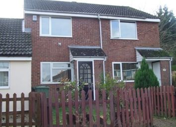 Thumbnail 2 bed terraced house to rent in Dryden Close, Thetford