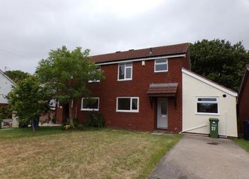 Thumbnail 2 bed semi-detached house for sale in Lon Hedyn, Rhyl, Denbighshire