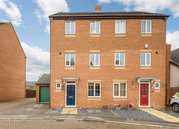 Thumbnail 4 bed semi-detached house for sale in Insignia Close, Wootton, Northampton