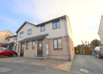 Thumbnail 3 bed semi-detached house for sale in Poplar Close, Plymouth, Devon