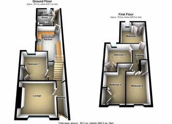 Thumbnail 4 bed shared accommodation to rent in Collins Terrace, Pontypridd, Rhondda Cynon Taff