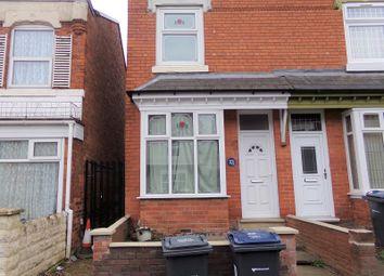 Thumbnail 3 bed end terrace house for sale in Nansen Road, Sparkhill, Birmingham