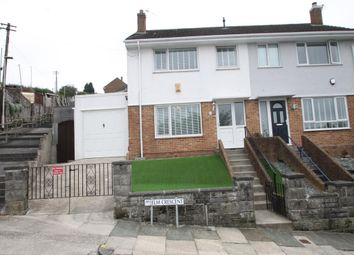 Thumbnail 3 bed semi-detached house for sale in Elm Crescent, Plymouth