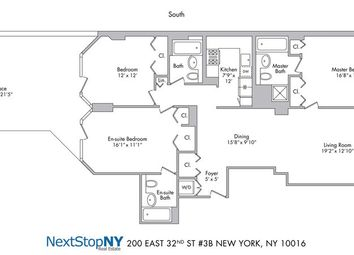 Thumbnail 3 bed apartment for sale in 200 East 32nd Street, New York, New York State, United States Of America