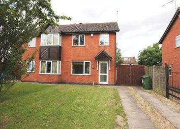 Thumbnail 3 bedroom semi-detached house for sale in Knights Close, Stoney Stanton, Leicester