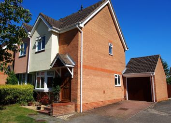 Thumbnail 3 bedroom semi-detached house for sale in Palm Close, Wymondham, Norfolk