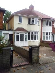 Thumbnail 3 bed semi-detached house to rent in Glendower Road, Perry Barr, Birmingham