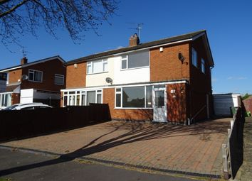 Thumbnail 3 bed semi-detached house for sale in Coombe Rise, Oadby