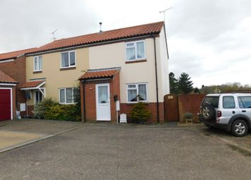 Thumbnail 2 bed semi-detached house for sale in Woodward Avenue, Bacton, Stowmarket