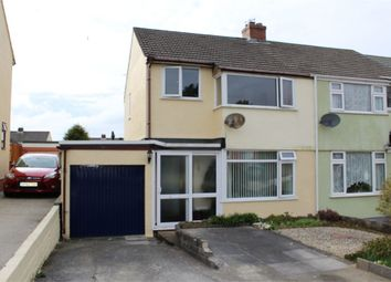 Thumbnail 3 bed semi-detached house for sale in Margaret Crescent, Bodmin, Cornwall