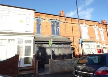 Thumbnail 3 bed terraced house for sale in Oakwood Road, Sparkhill, Birmingham, West Midlands