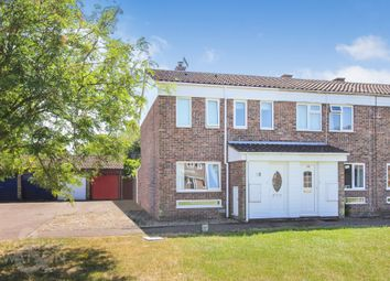 Thumbnail 3 bed end terrace house for sale in Sycamore Avenue, Wymondham