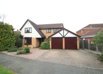 Thumbnail 4 bed detached house for sale in Crown Hill Road, Burbage, Hinckley