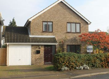 Thumbnail 4 bed detached house to rent in Windsor Road, Sawtry, Huntingdon