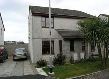 Thumbnail 2 bed semi-detached house to rent in Henley Crescent, Mount Hawke, Truro