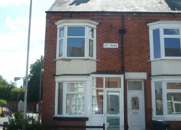 Thumbnail 2 bed end terrace house to rent in Ivy Road, West End, Leicester