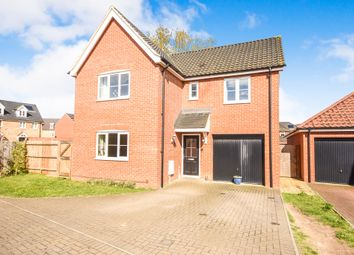 Thumbnail 4 bed detached house for sale in Dairy Drive, Beck Row, Bury St. Edmunds