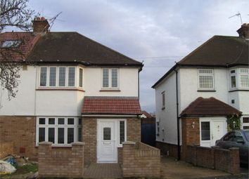 Thumbnail 3 bed semi-detached house to rent in Iverna Gardens, Feltham, Greater London