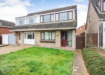 Thumbnail 3 bed property for sale in Higher Green Close, Newton Flotman, Norwich