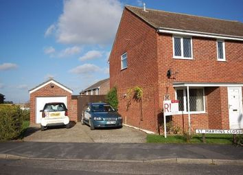 Thumbnail 3 bed semi-detached house to rent in St. Martins Close, Cranwell Village, Sleaford