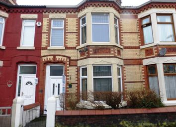 Thumbnail 4 bedroom terraced house for sale in Wesley Avenue, Wallasey