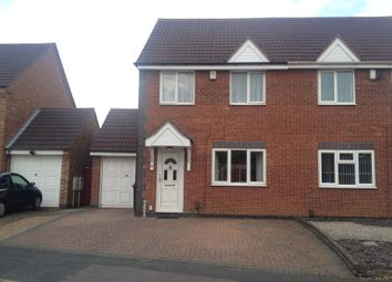 Thumbnail 3 bed semi-detached house to rent in Sorrel Road, Hamilton, Leicester