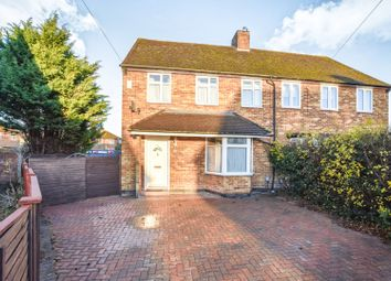 Thumbnail 3 bed semi-detached house for sale in Harpenden Close, Goldington, Bedford