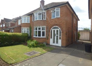 Thumbnail 3 bed semi-detached house for sale in Carlton Drive, Wigston, Leicestershire
