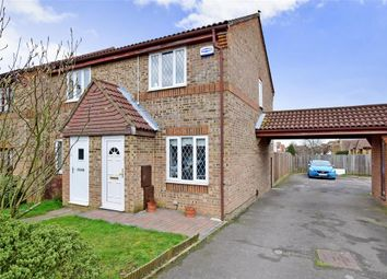 Thumbnail 2 bed end terrace house for sale in Willowmead, Leybourne, West Malling, Kent