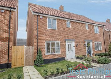 Thumbnail 3 bed semi-detached house for sale in Wilson Road, Stalham, Norwich