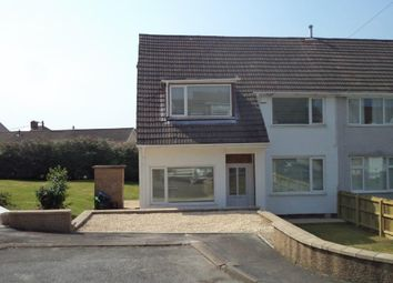Thumbnail 3 bed semi-detached house for sale in Glanrhyd Close, Scwrfa, Tredegar