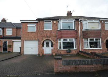 Thumbnail 5 bed semi-detached house for sale in Manor Park Close, York