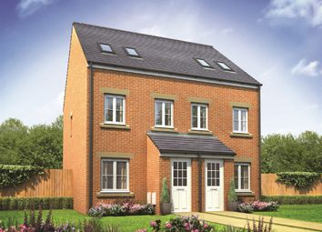 "Thumbnail 3 bed town house for sale in ""The Sutton "" at Bennetts Row, Chester Road, Oakenholt, Flint"