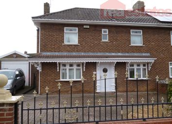 Thumbnail 3 bed semi-detached house to rent in Greenfields Road, Bishop Auckland