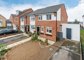 Thumbnail 4 bed semi-detached house for sale in Vallum Place, Throckley, Newcastle Upon Tyne
