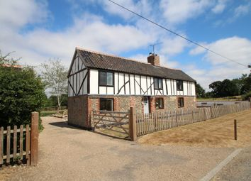 Thumbnail 3 bed farmhouse for sale in Hunston, Bury St Edmunds, Suffolk