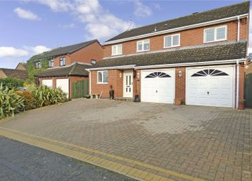 Thumbnail 4 bed detached house for sale in Derby Close, Broughton Astley, Leicester, Leicestershire