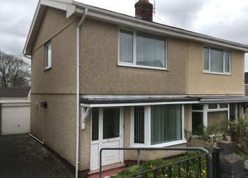 Thumbnail 2 bed semi-detached house to rent in Penllwynmarch Road, Gendros, Swansea