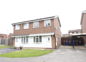 Thumbnail 2 bed semi-detached house for sale in Crestwood Close, Stretton, Burton-On-Trent