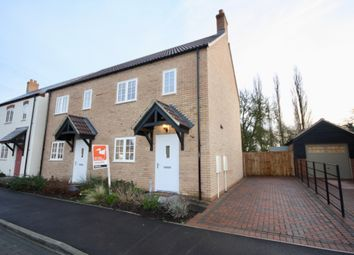 Thumbnail 2 bed semi-detached house to rent in Abbots Way, Scothern, Lincoln