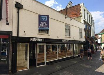 Thumbnail Retail premises to let in 3/4, Sun Street, Canterbury, Kent